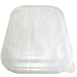 World Centric Clear Ingeo™ Fiber Box Lid