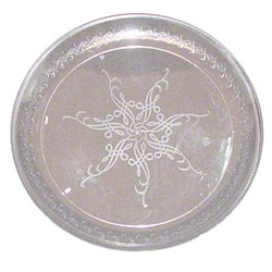 """EMI Yoshi Caterers Collection Clear Dinner Plate - 9"""""""