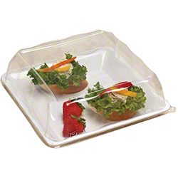 """EMI Yoshi Party Tray Square Tray Lid-10.75"""" x 10.75"""", Clear"""