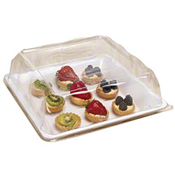 """EMI Yoshi Party Tray Square Tray Lid - 12"""" x 12"""", Clear"""