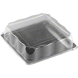 """EMI Yoshi Party Tray Square Tray Lid - 14"""" x 14"""", Clear"""