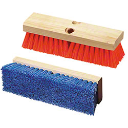 Flo-Pac® Polypropylene Deck Scrub Brushes