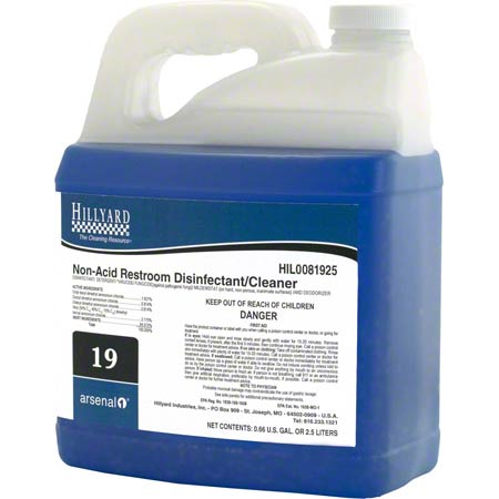 Hillyard Arsenal® 1 #19 Non-Acid Restroom Cleaner - 2.5 L
