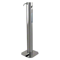 "Large 39"" Pedal Hand Sanitizer Dispenser - 2 L, Stainless Steel"