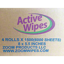 ZOOM Active Wipes - 1500 ct. Roll
