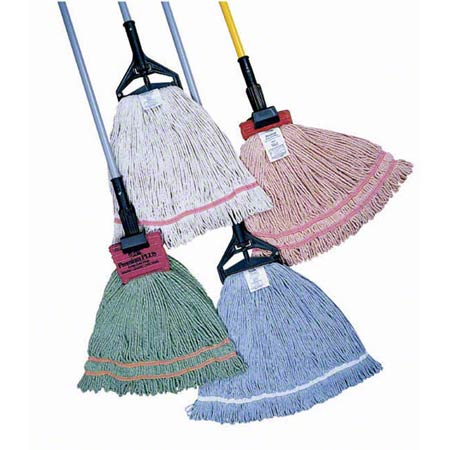 PRO-LINK® Standard Loop End Wet Mop - Small, Green