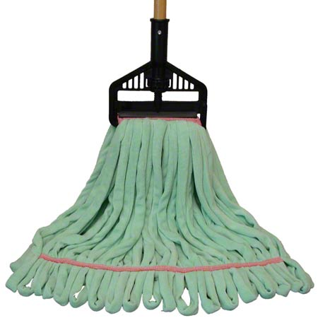 "PRO-LINK® Multi-Surface Wet Mop - Large, 1.25"", Green"