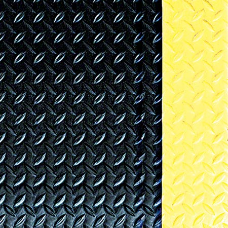PRO-LINK® Tile Top Safety Anti-Fatigue Mat -Black w/Yellow