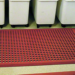 PRO-LINK® Heavy-Duty Beveled Rubber Kitchen Mat - 3' x 5'
