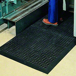 PRO-LINK® Heavy-Duty Rubber Anti-Fatigue Mat - Black