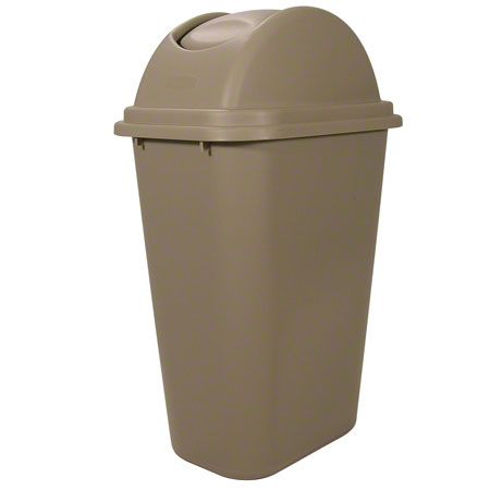 Rubbermaid® Soft Wastebasket/Lid Combo - 41 1/4 Qt., Beige