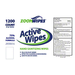 ZoomWipes® Active Wipes Hand Sanitizing Wipes - 1200 ct. Roll