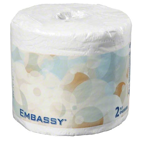 "Embassy® Premium 2 Ply Bathroom Tissue - 4.2"" x 4.0"""