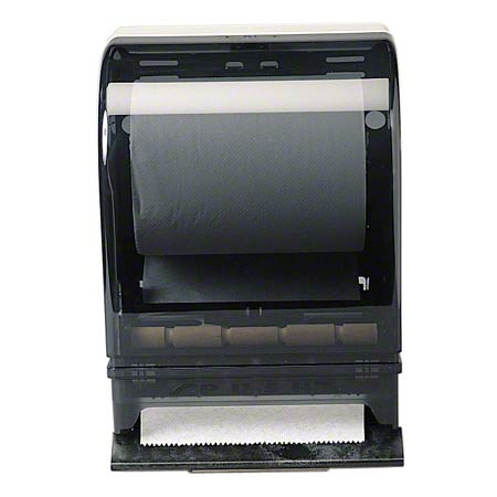 Designer Push Bar Roll Towel Dispenser Smoke Grey