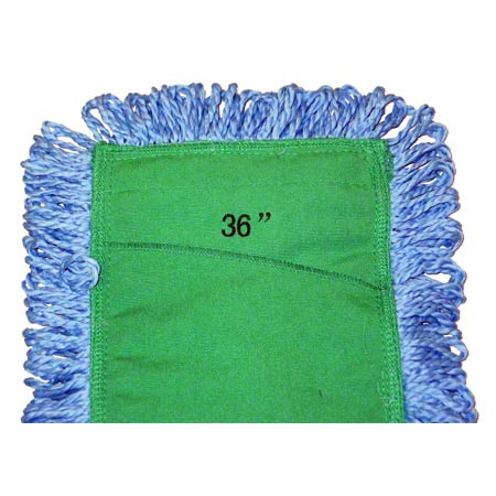 SSS® NexGen Blue Microfiber Looped End Dust Mop Pad - 36""