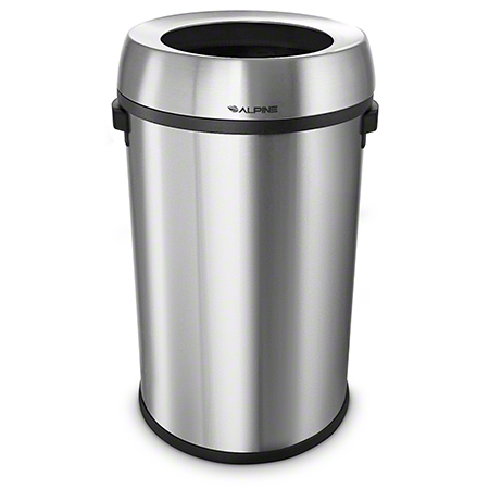 Alpine Stainless Steel Open Top Trash Can - 17 Gal.