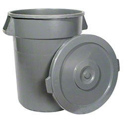 Winco® Lid For 44 Gal. Heavy Duty Large Grey Trash Can