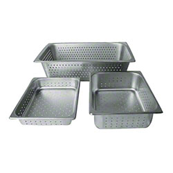 "Winco® Perforated Steam Pan - 6"", Full Size"