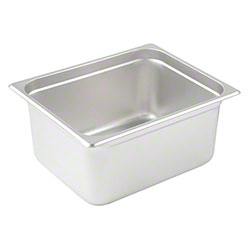 Winco® Stainless Steel Steam Table Pan - Half Size, 6""