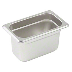 Winco® Stainless Steel Steam Table Pan - 1/9 Size, 4""