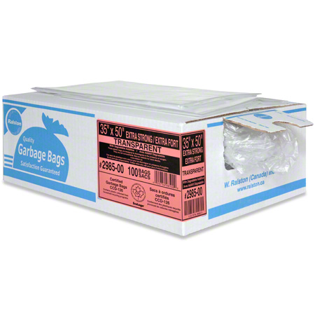 Ralston 2900 Industrial Garbage Bag -30 x 38, Regular, Clear