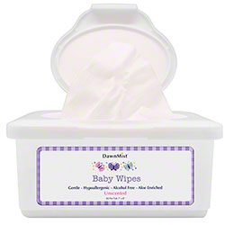 DawnMist® Unscented Baby Wipes