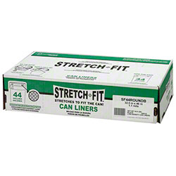 Berry Stretch-Fit™ Liner - 44 Gal. Rd, 1.1 mil, Black