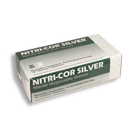 Cordova™ Nitri-Cor Silver Disposable -Medium, Powder Free
