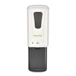 Alpine Automatic Hands-Free 1200 mL Liquid/Gel Hand Sanitizer/Soap Dispenser w/Drip Tray-White