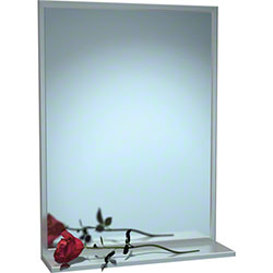 ASI 0625 Channel Frame Mirrors w/Shelf