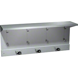 "ASI 34"" Shelf w/4 Utility Hooks & 3 Mop Holder Strip"