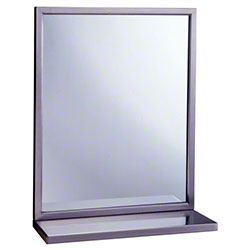 "Bobrick B-292 Series Mirror/Shelf Combination - 18"" x 36"""