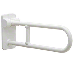 Bobrick Vinyl-Coated Swing-Up Grab Bar - 27 9/16""