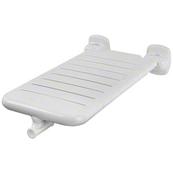 "Bobrick Vinyl-Coated Folding Bathtub Seat - 15"" x 28"""
