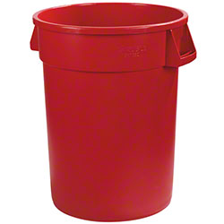 Carlisle Bronco™ Round Waste Container - 32 Gal., Red