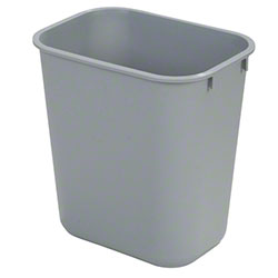 Carlisle 13 Qt. Office Wastebasket - Gray