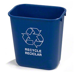 Carlisle 13 Qt. Recycle Wastebasket - Blue