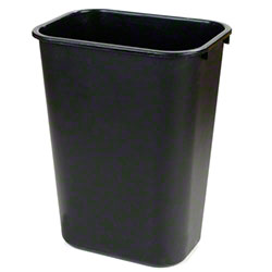 Carlisle 28 Qt. Rectangle Office Wastebasket - Black