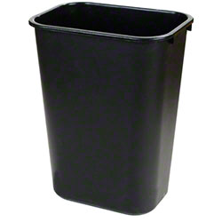 Carlisle 41 1/4 Qt. Office Wastebasket - Black