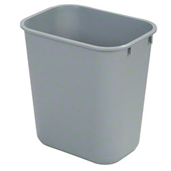 Carlisle 41 1/4 Qt. Office Wastebasket - Gray