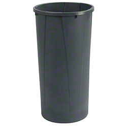Carlisle Centurian™ Round Tall Trash Can - 22 Gal., Gray