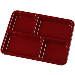 Carlisle 4 Compartment Tray - Dark Cranberry