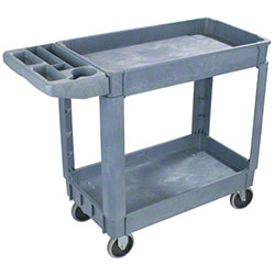 "Carlisle Bin Top Utility Cart - 45"" x 25"", Gray"