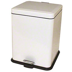 Impact® Step-On Receptacle w/Plastic Liner-21 Qt., White