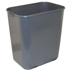 Impact® Pinch'm™ Soft-Sided Wastebasket - 14 Qt., Gray