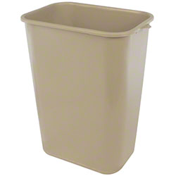Impact® Rectangular Soft-Sided Wastebasket - 41 Qt., Beige