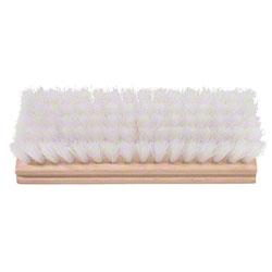 "Magnolia Clear Polypropylene Oblong Scrub Brush -8"" x 2 3/4"""