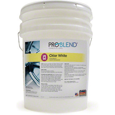 ProBlend™ Chlor White Liquid Bleach - 5 Gal.