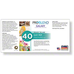 ProBlend™ Galaxy-40 Easy Mop RTU Label Sheet