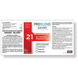 ProBlend™ Galaxy-21 Bathroom Disinfectant RTU Label Sheet